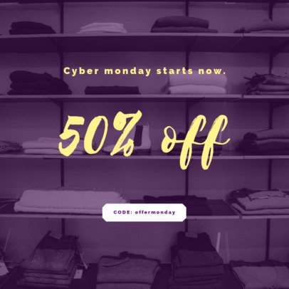 Ad Banner Maker for Home Products on Cyber Monday 754l-1796