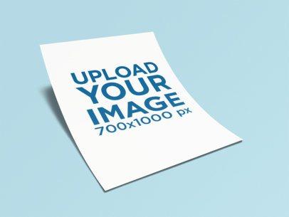 Letterhead Mockup of a Paper Foil Lying on a Plain Color Surface 347-el
