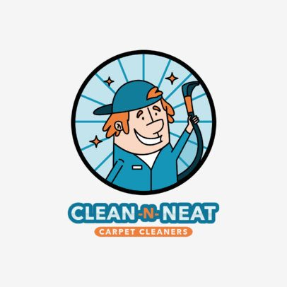 Cartoonish Logo Maker for a Carpet Cleaning Company 2550