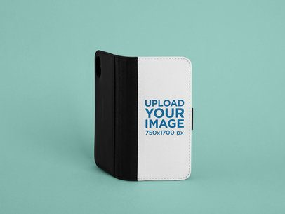 Mockup of a Standing Wallet Case for an iPhone X 29243