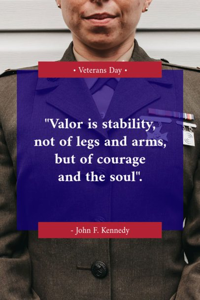 Pinterest Pin Maker with a Veterans Day Quote 659l-1804
