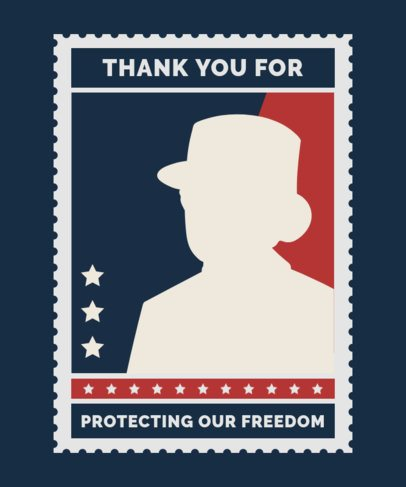 T-Shirt Design Maker with a Veterans Day Thankful Message 1813f