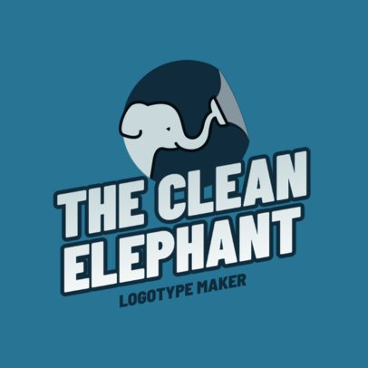 Carpet Cleaning Logo Maker Featuring an Elephant Graphic 2549f