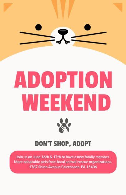 Cartoonish Flyer Maker of a Pet Adoption Weekend 398-f-1818