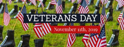 Facebook Cover Template for Veterans Day 1803d