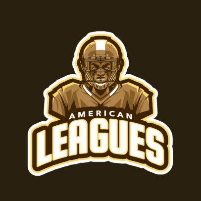 Football Logo Maker Featuring an American Football Player 245q-2559