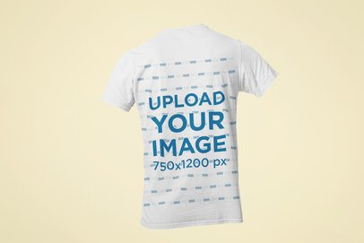 Ghosted Mockup Featuring the Back of a Men's T-Shirt Against a Customizable Background 29348