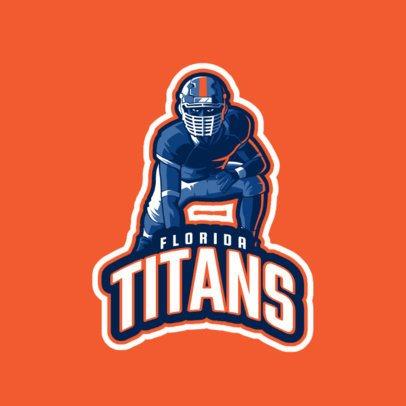 Sports Logo Maker Featuring a Kneeling Football Player Illustration 245bb 2560
