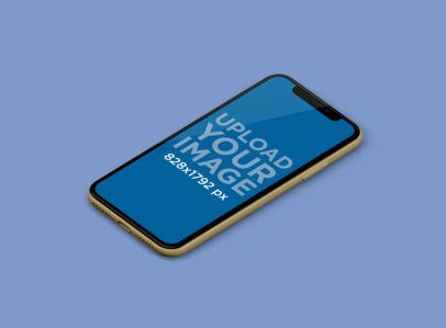 Minimal iPhone 11 Mockup Featuring a Customizable Background 230-el