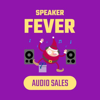 Ad Banner Template for a Christmas Sale Featuring an Elf Illustration 1838f