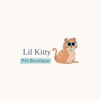 Logo Maker for a Pet Boutique with a Dapper Cat 2581b
