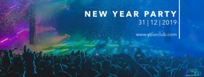 Facebook Cover Template for a New Year's Party 1086f-1860