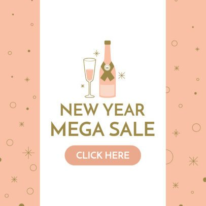 Ad Banner Maker for a New Year's Mega Sale 784g 1859