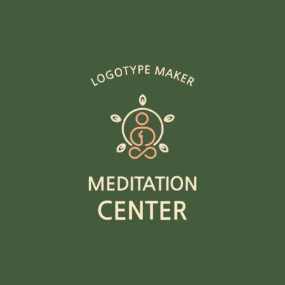 Minimal Online Logo Maker for a Meditation Center 2580e
