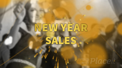 YouTube Ad Video Maker for a New Year's Sale 1964