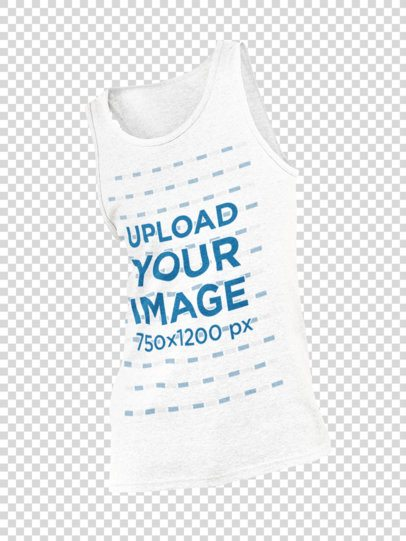 Ghosted Mockup of a Men's Heathered Tank Top 29402