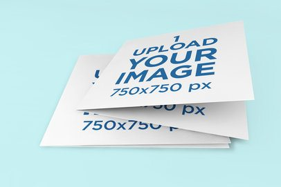 Mockup of a Greeting Card Lying on Top of Another One 273-el