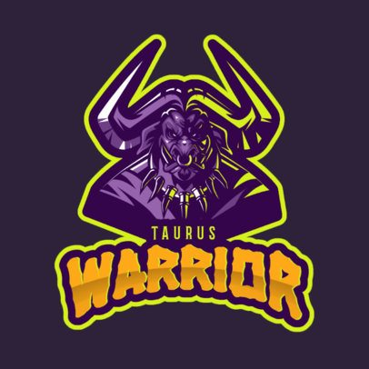 Warcraft-Inspired Gaming Logo Maker Featuring a Minotaur Character 2613n