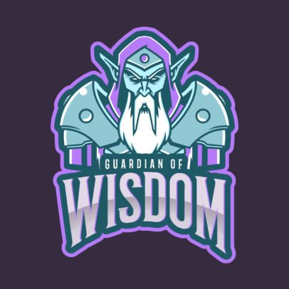 Gaming Logo Generator Inspired in Warcraft Featuring an Ancient Elf 2613v