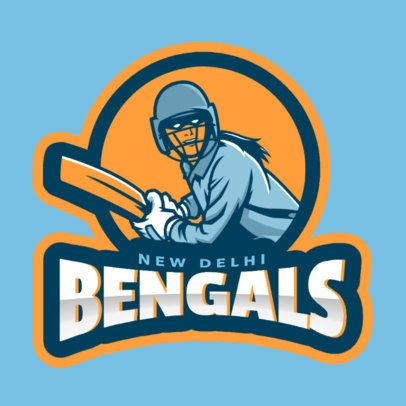 Cricket Logo Maker Featuring a Player Character 1649g-2601
