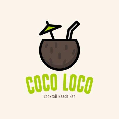 Simple Logo Generator for a Cocktail Beach Bar 1760g 18-el
