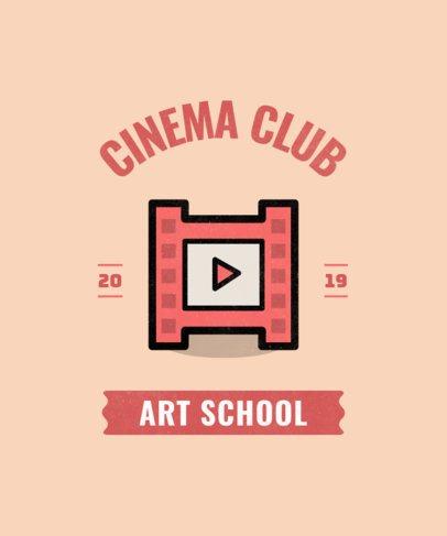 T-shirt design template for a Cinema Club 484l 24-el