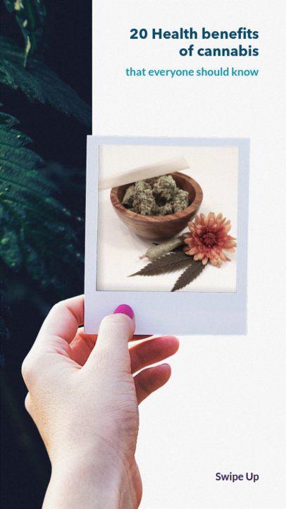 Instagram Story Maker with a Marijuana Image 945g-1889
