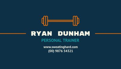 Business Card Design Template for a Fitness Personal Trainer 334f-28-el