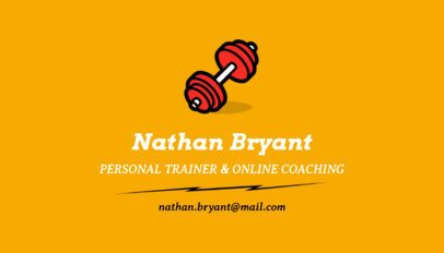 Personal Trainer Business Card Maker with a Dumbbell Clipart 350f-43-el