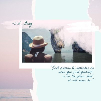 Collage-Style Instagram Post Template for Traveler Instagrammers 1900g