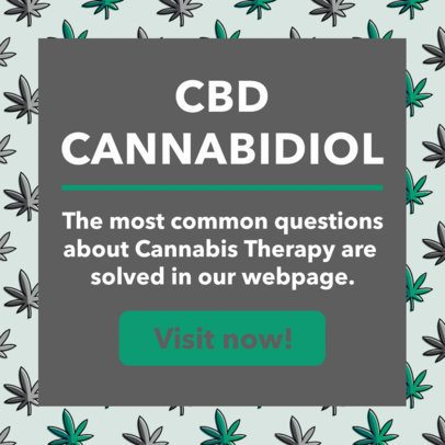 Ad Banner Template for a Cannabis Therapy Ad 1896