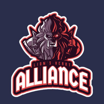 League of Legends-Themed Logo Maker with a Lion Champion 2619g