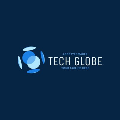 Tech Company Logo Generator with an Abstract Shape Illustration 2174i-2585