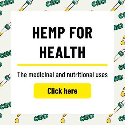 Hemp-Themed Ad Banner Maker with Cannabis Patterns 1896b