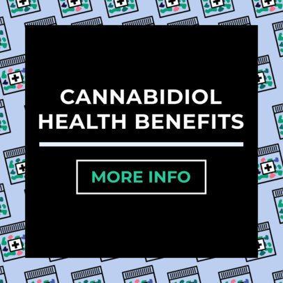 Ad Banner Template for a Marijuana Health Benefits Post 1896c