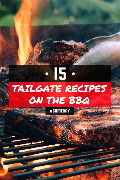 Pinterest Pin Maker with Recipes for a Tailgate BBQ 1122k-1935