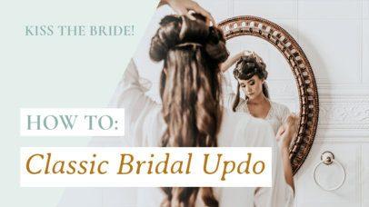 Beauty YouTube Thumbnail Maker For a Bridal Updo Tutorial 934i 1938