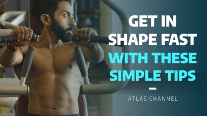 YouTube Thumbnail Template for Fitness Vlogs 900f 1937