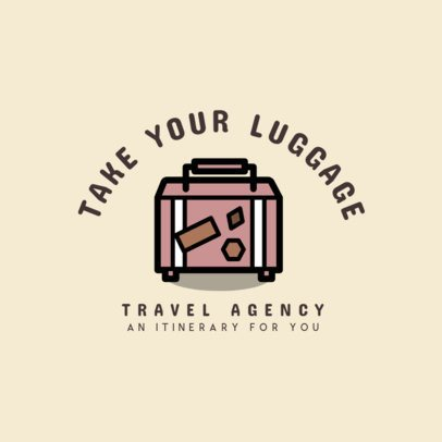 Travel Agency Logo Generator Featuring a Suitcase Clipart 1281g 80-el