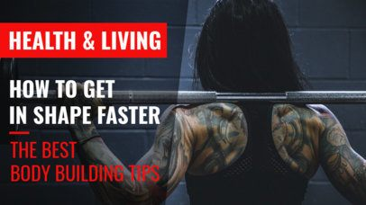 Fitness YouTube Thumbnail Template for a Bodybuilding Channel 891e 1937