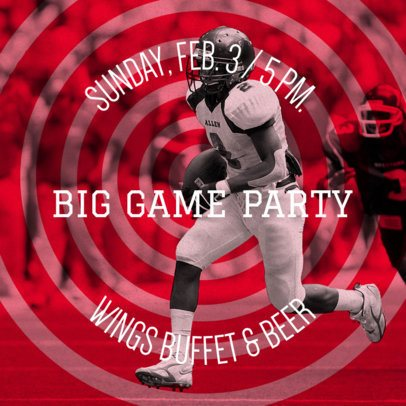 Social Media Post Template for a Big Game Party 583k 1928