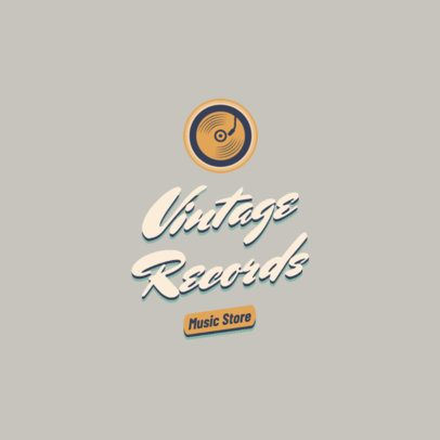 Retro Logo Creator for a Record Store with a Vinyl Graphic 2627a