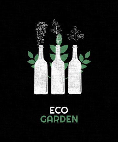 T-Shirt Design Generator for Indoor Gardeners Featuring Reused Bottles 1922f