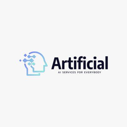 Technology Logo Maker for Artificial Intelligence Companies 2174k 102-el