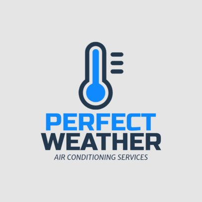 HVAC Logo Generator Featuring a Thermometer Clipart 1179f 23-el