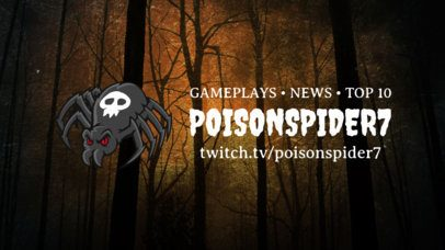 Horror-Style Twitch Banner Maker Featuring a Spooky Spider Illustration 1965e