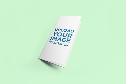 Mockup of a Trifold Brochure on a Solid Color Surface 259-el