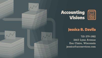 Accountant Business Card Design Template 321f 60-el