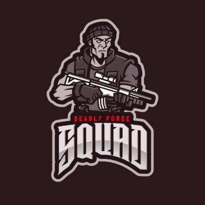 Logo Design Generator in Style of Rainbow Six Siege with a Soldier Character 2663f
