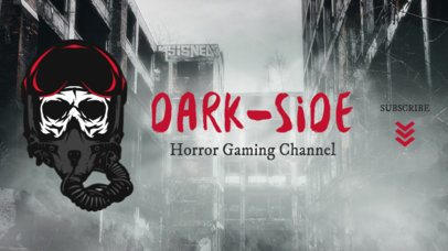 Twitch Banner Template for Horror Gaming Channels 1965j